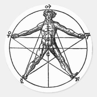 Human Pentacle Sticker
