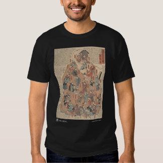 Human physiology, back view shirts