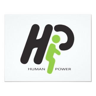 Human Power 4.25x5.5 Paper Invitation Card
