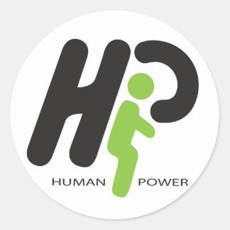Human Power Classic Round Sticker