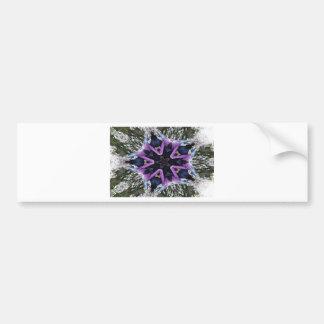 Human purple flower car bumper sticker