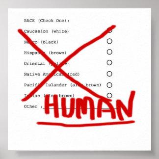 HUMAN RACE POSTER