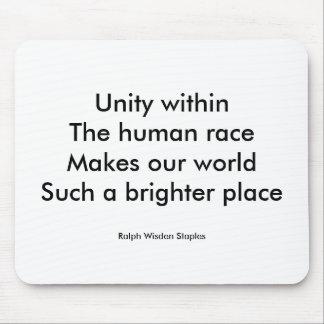 Human race unity mouse pad