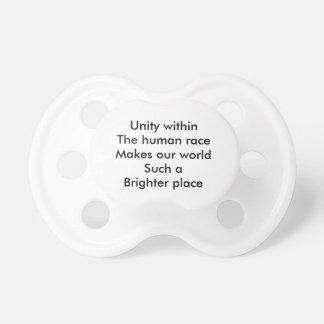 Human race unity BooginHead pacifier