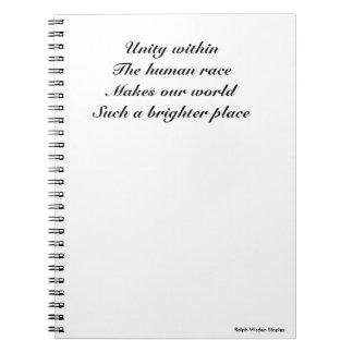 Human race unity spiral notebook