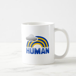 HUMAN RAINBOW CLASSIC WHITE COFFEE MUG