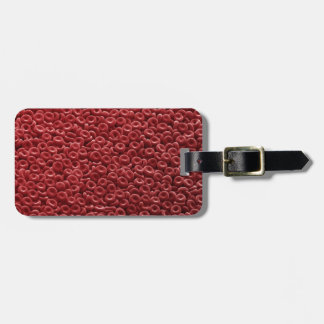 HUMAN RED BLOOD CELLS LUGGAGE TAG
