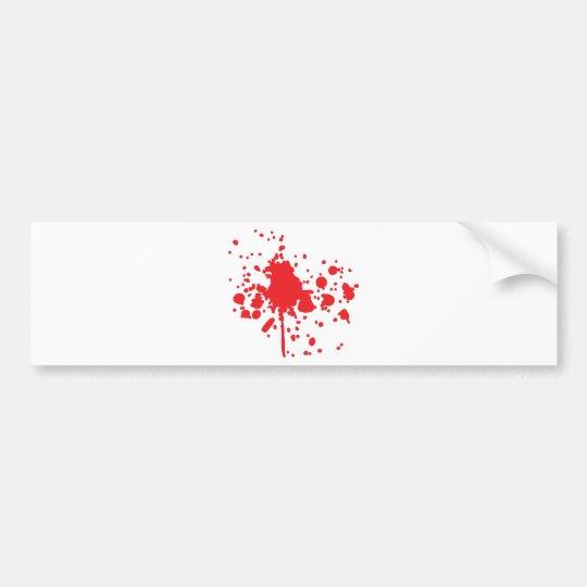 human red blood splatter bumper sticker