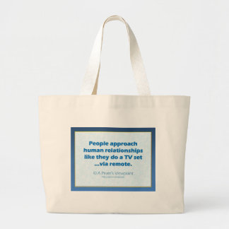 Human Relationships Canvas Bags