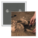 Human remains 2 inch square button