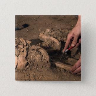 Human remains pinback button