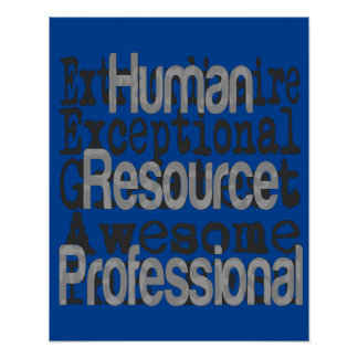 Human Resource Professional Extraordinaire Poster