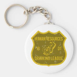 Human Resources Drinking League Basic Round Button Keychain