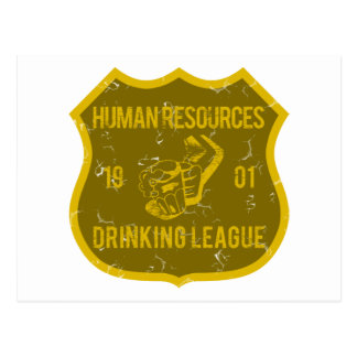Human Resources Drinking League Postcard