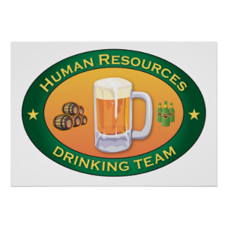 Human Resources Drinking Team Poster
