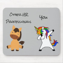 Human Resources HR Unicorn Horse Funny Gift Mouse Pad