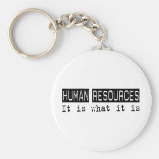 Human Resources It Is Basic Round Button Keychain