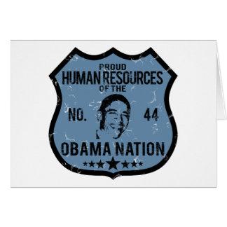 Human Resources Obama Nation Greeting Card