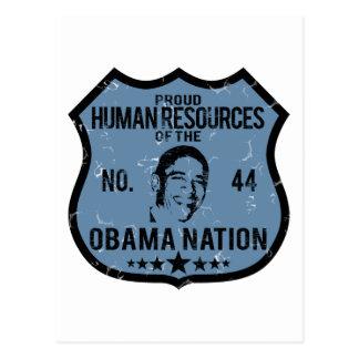Human Resources Obama Nation Postcard