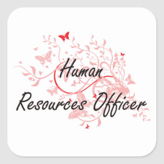 Human Resources Officer Artistic Job Design with B Square Sticker