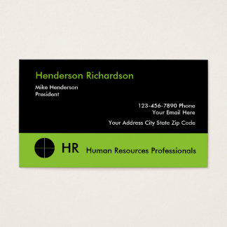 Human Resources Professionals Business Card