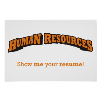 Human Resources - Show me your resume! Poster