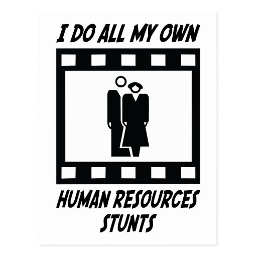 Human Resources Stunts Post Cards