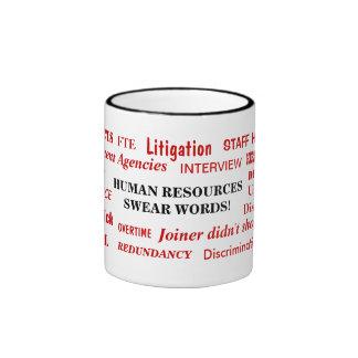 Human Resources Swear Words Annoying Funny Joke Ringer Coffee Mug