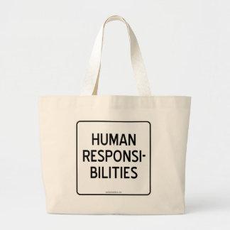 HUMAN RESPONSIBILITIES LARGE TOTE BAG