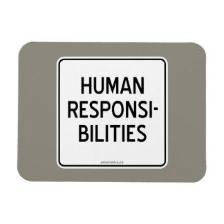HUMAN RESPONSIBILITIES RECTANGULAR PHOTO MAGNET