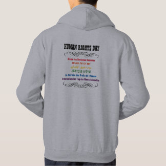 Human Rights Day Multiple Language Hoodie