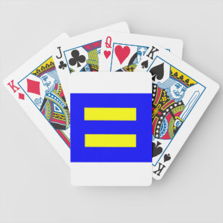 Human Rights Equality Flag Bicycle Playing Cards