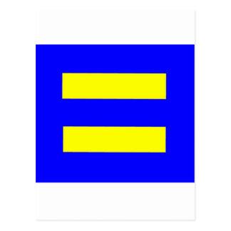 Human Rights Equality Flag Postcard