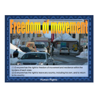 Human rights - Freedom of Movement Postcard