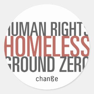 HUMAN RIGHTS GROUND ZERO CLASSIC ROUND STICKER
