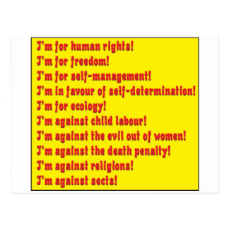Human rights postcard
