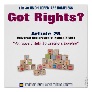 Human Rights Poster: Article 25 Right to Housing