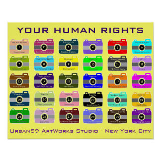 "HUMAN RIGHTS POSTER: ""SNAP SHOT OF YOUR HR"" POSTER"