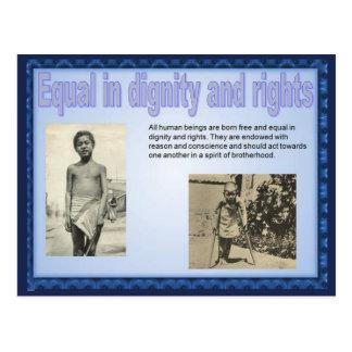 Human Rights, Social Studies, Equality Postcard