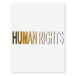 Human Rights Temporary Tattoos