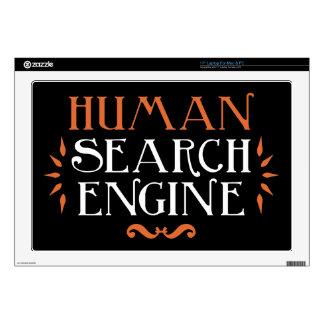 """Human Search Engine 17"""" Laptop Skin"""