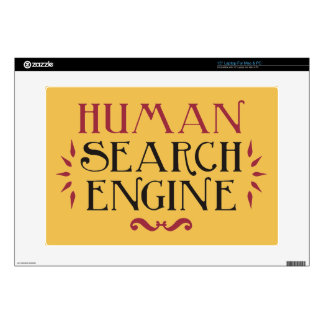 Human Search Engine Laptop Decal