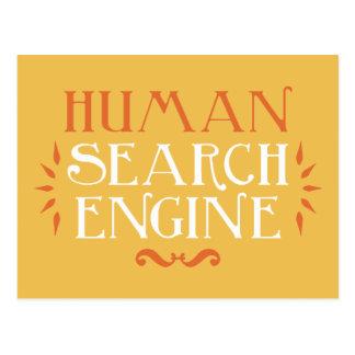 Human Search Engine Postcard