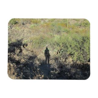 Human Shadow on Desert Magnet