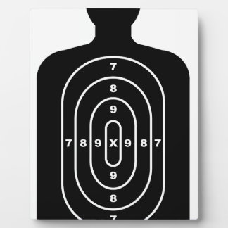 Human Shape Target Plaque