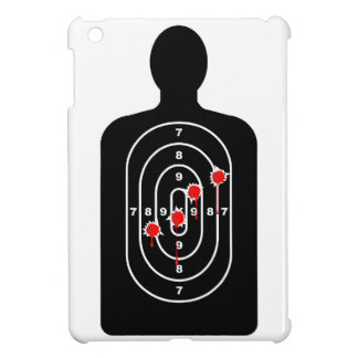 Human Shape Target With Bullet Holes iPad Mini Cover