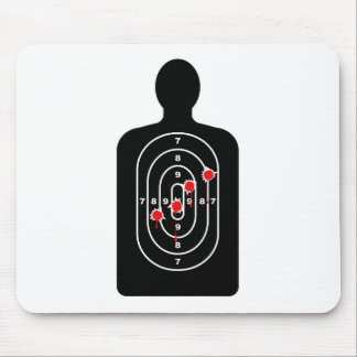 Human Shape Target With Bullet Holes Mouse Pad
