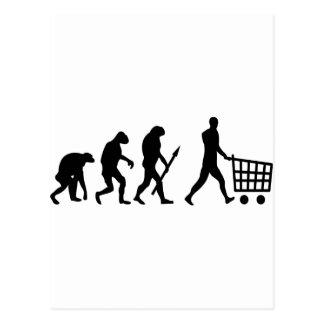 human shopping evolution postcard