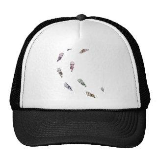 Human skeletal foot prints - magenta trucker hat