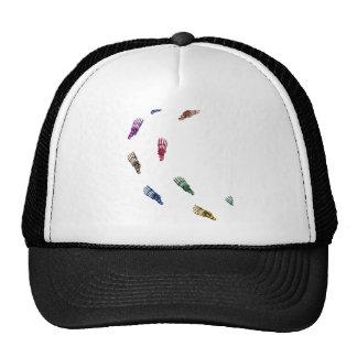 Human skeletal foot prints - muliSolidColor Trucker Hat